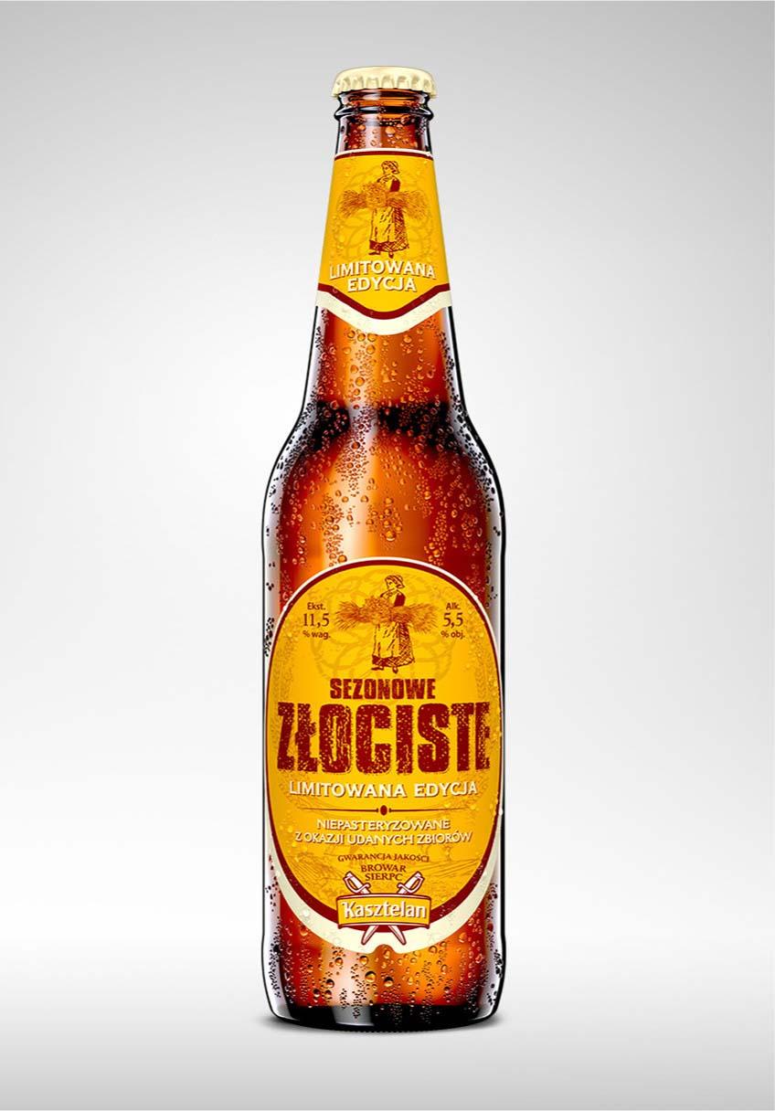 wizualizacja etykieta piwa kasztelan sezonowe