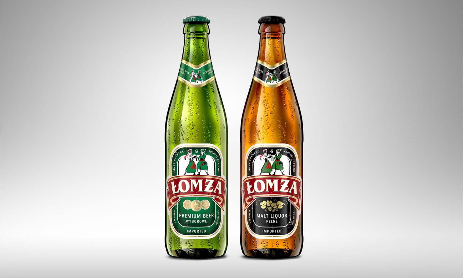 Klasyczna Etykieta Piwa Łomża