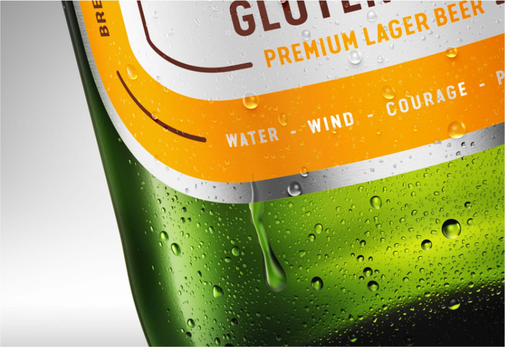 Wizualizacja Butelki Piwa Brok