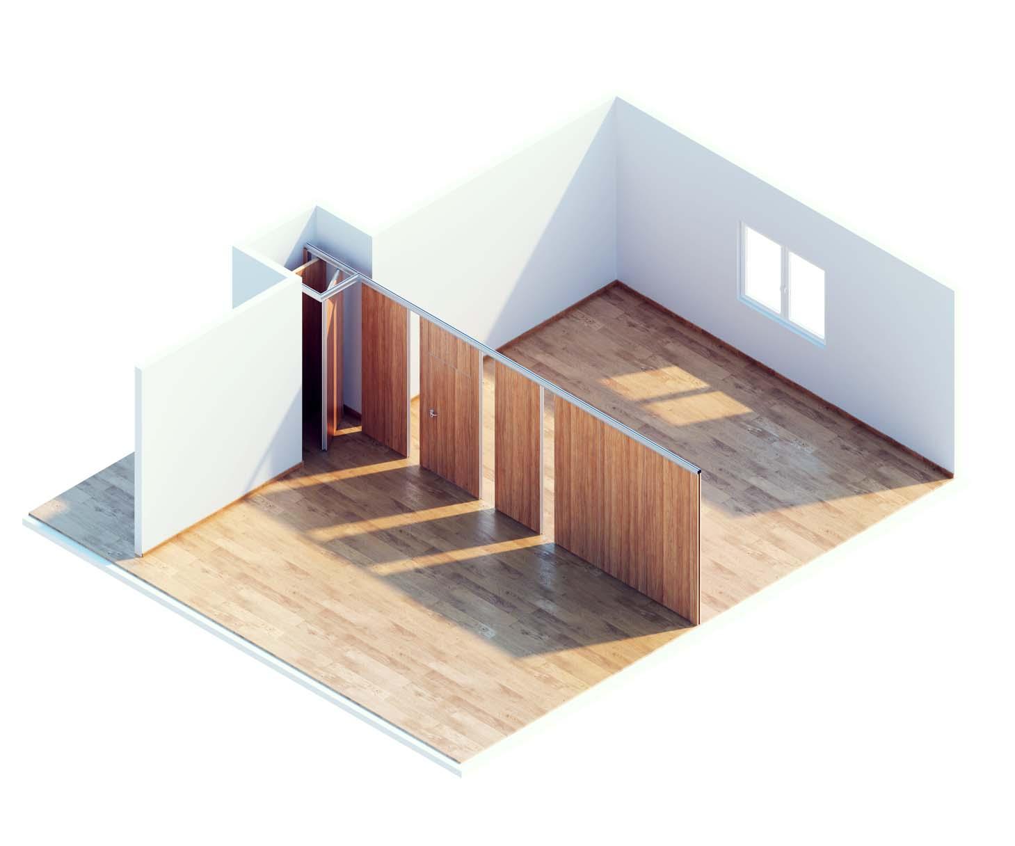 Bumera render 3D pomieszczenia