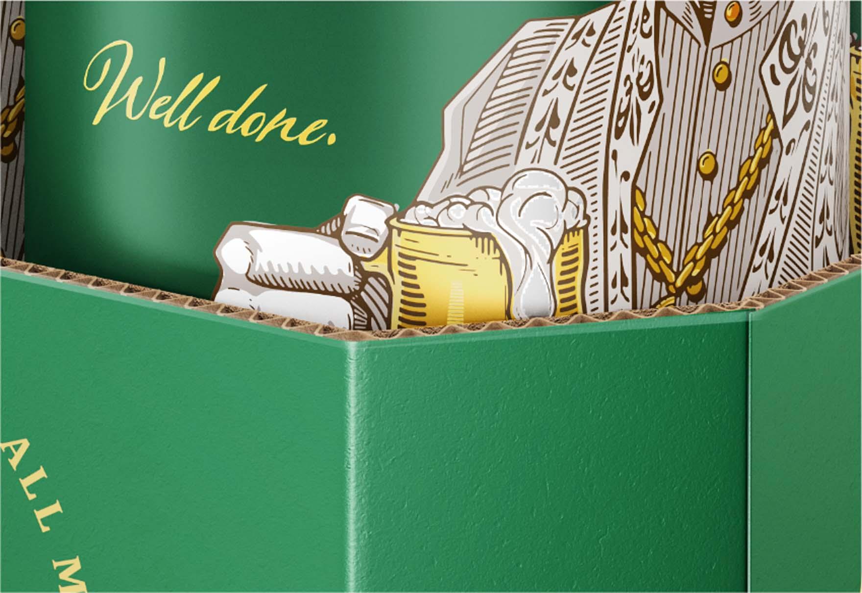 Wizualizacja opakowania zgrzewki piwa