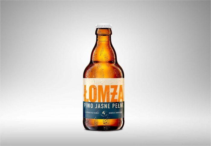 Wizualizacja 3D Butelki Piwa Łomża Jasne Pełne
