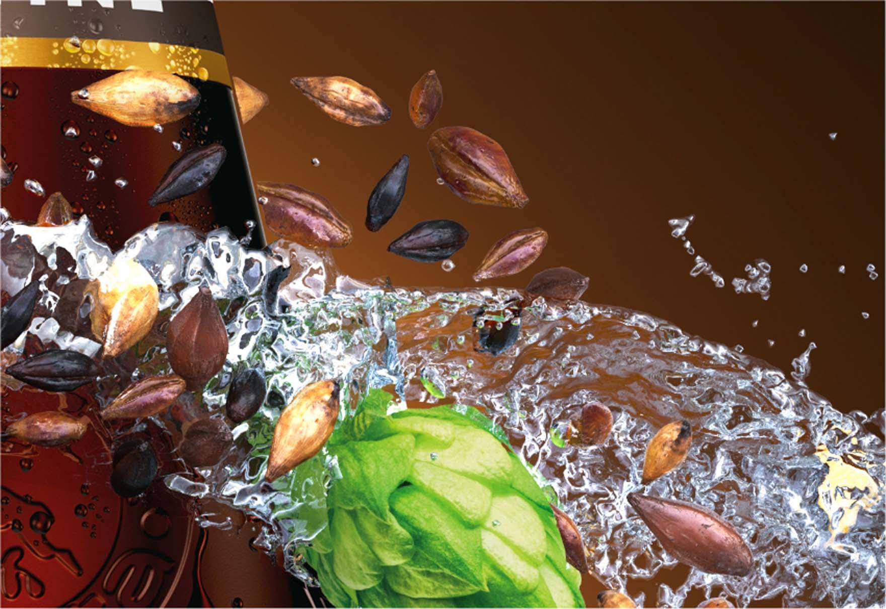 Wizualizacja produktowa Butelki Piwa Łomża Ciemne