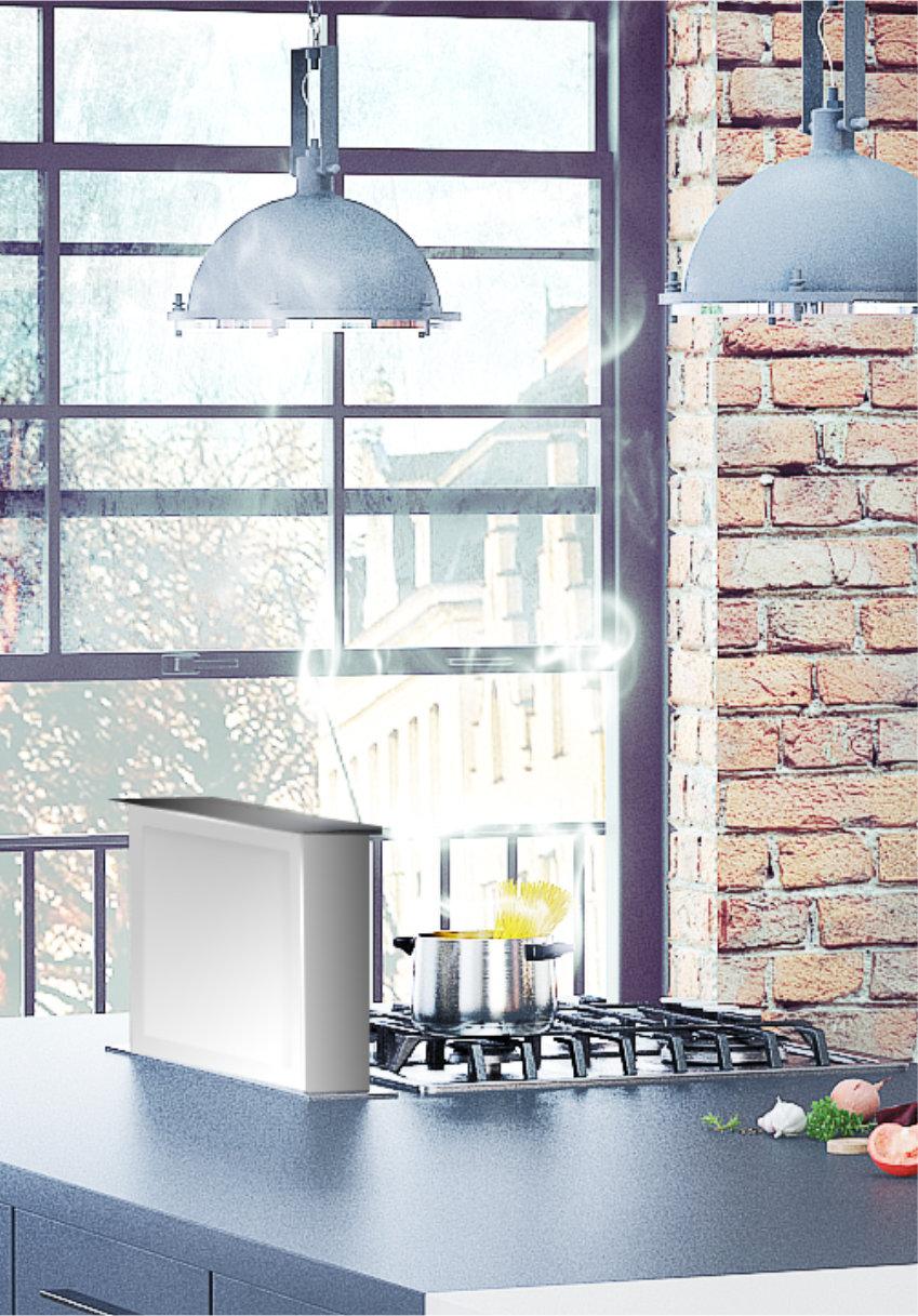 Wizualizacja 3D kuchni loft Hofemeier