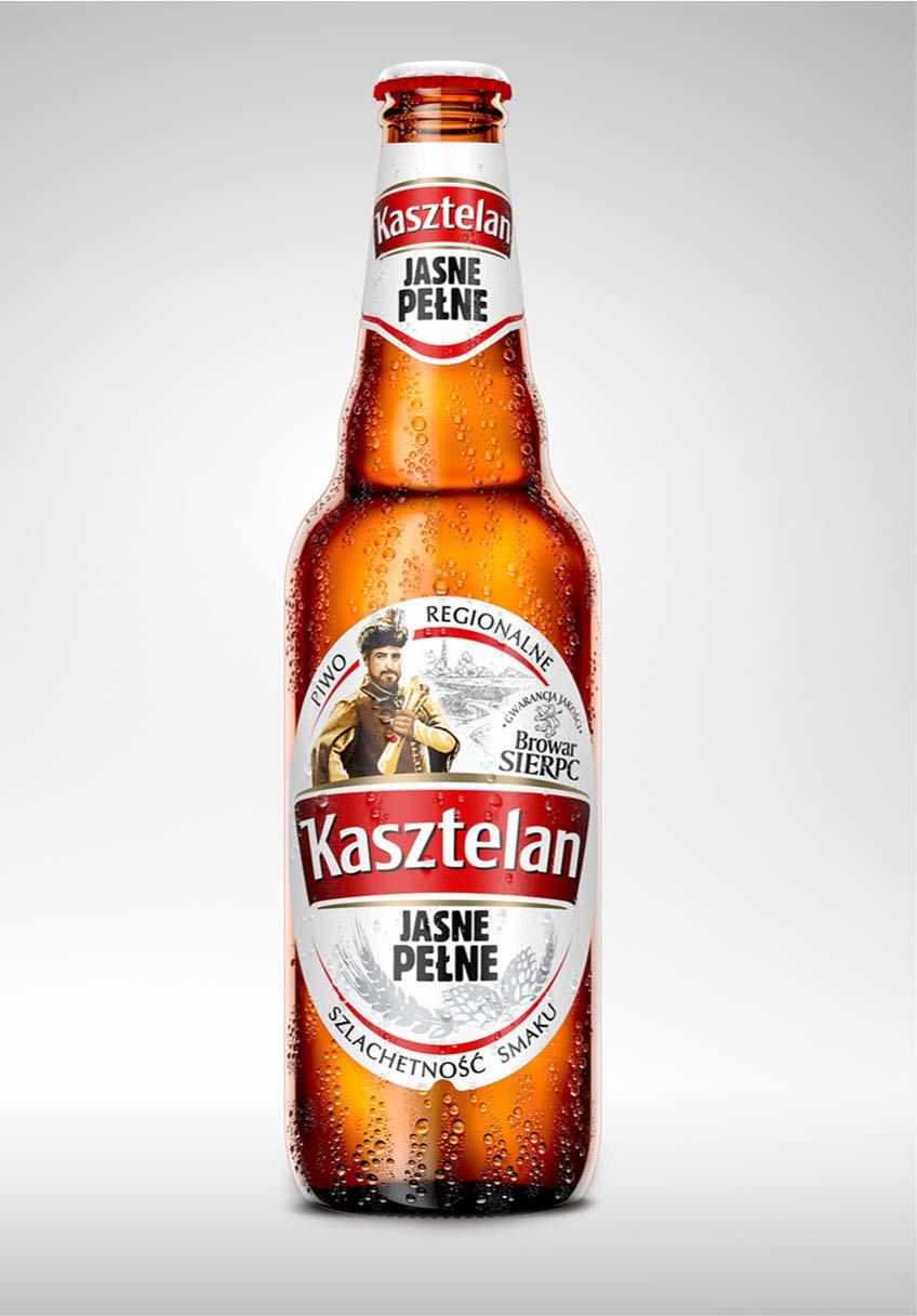 butelka piwa 3d kasztelan