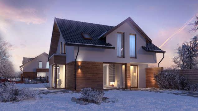 wizualizacja domu jednorodzinnego 3d