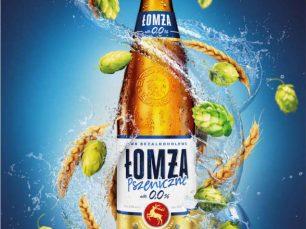 Render 3D Butelki Piwa Łomża Jasne Pełne