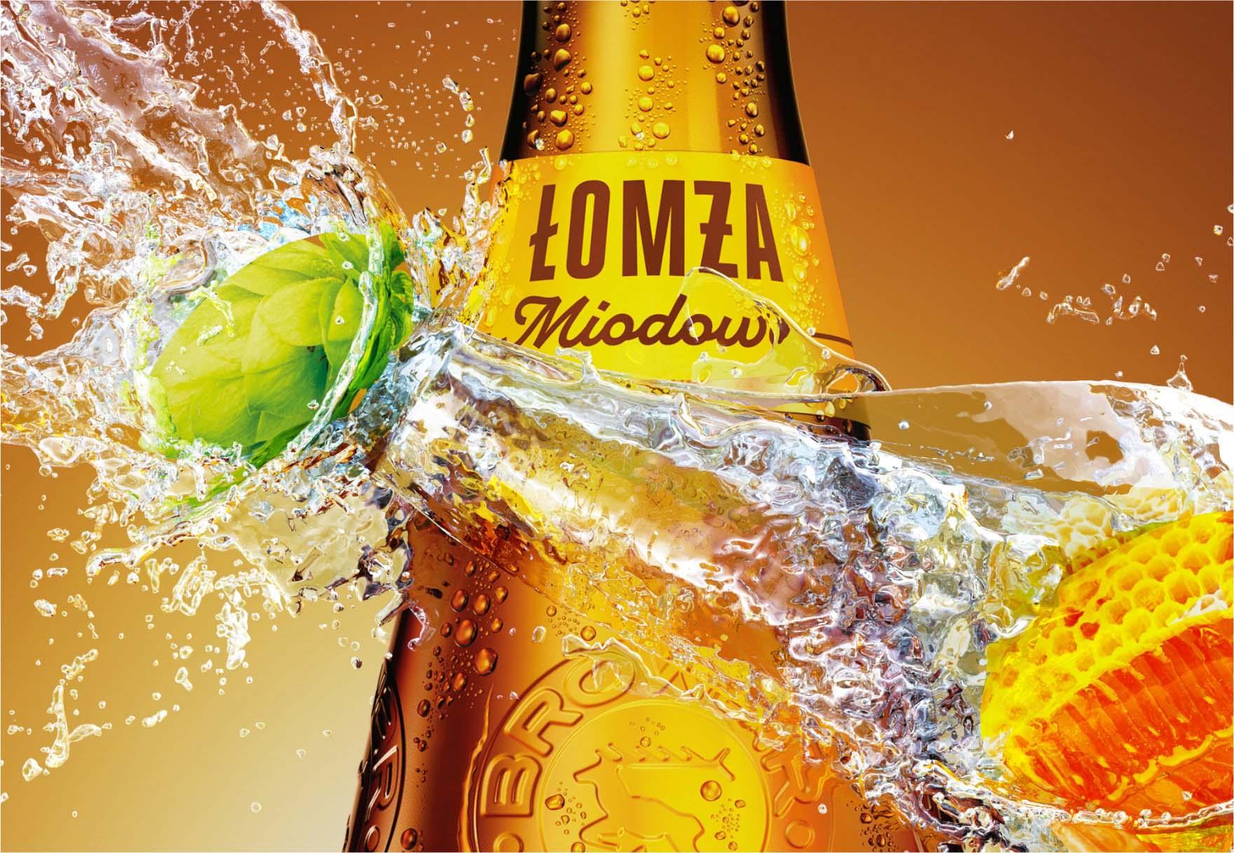 Render brązowej butelki piwa